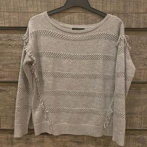 Banana Republic Semi Sheer Knit Sweater Fringe